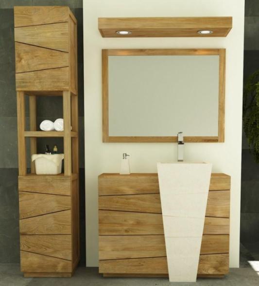 Meuble salle de bain bois vasque