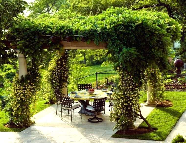 pergola m tallique pour plantes grimpantes maison parallele. Black Bedroom Furniture Sets. Home Design Ideas