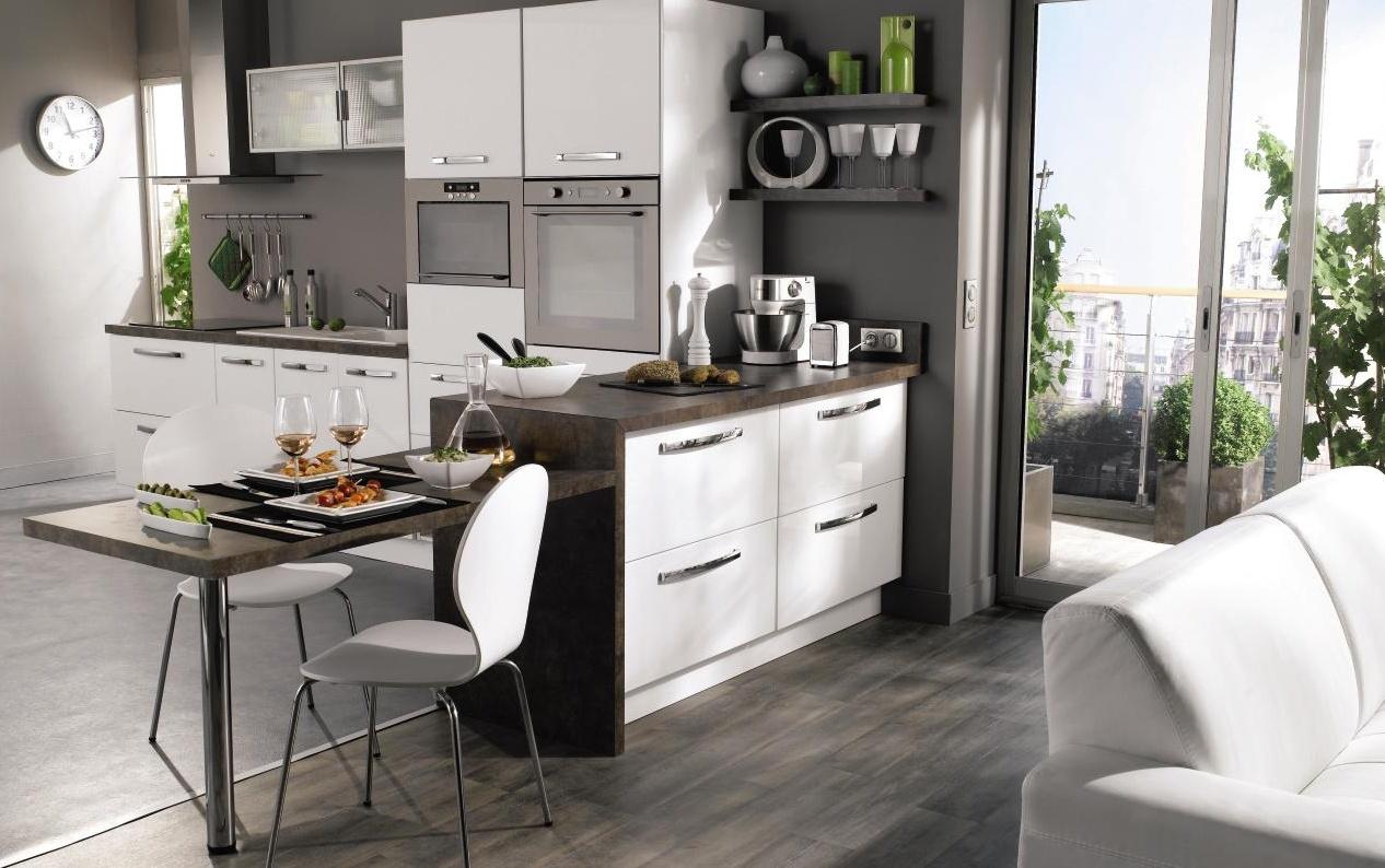 Cuisine aménagée ouverte - maison parallele