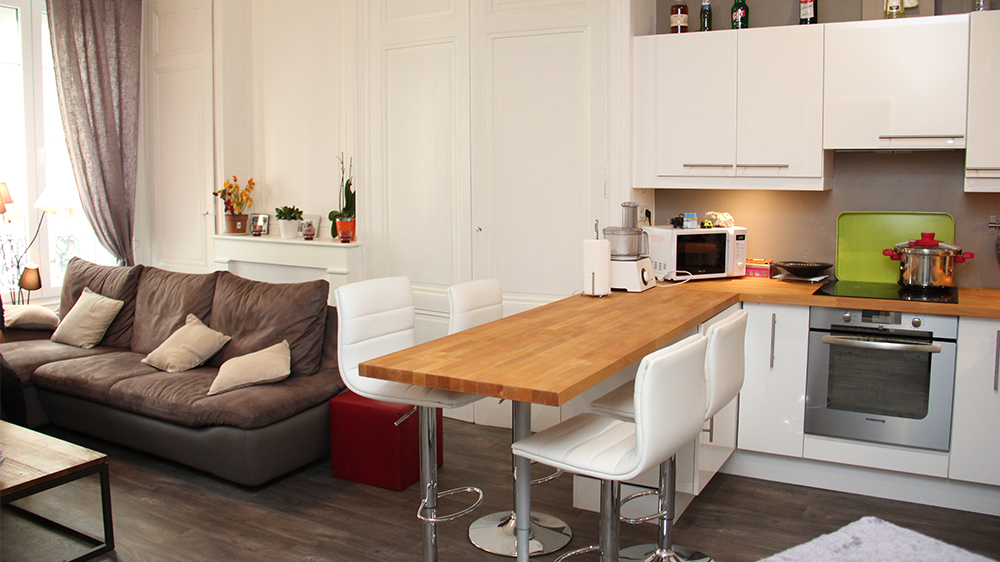 Aménager un salon cuisine
