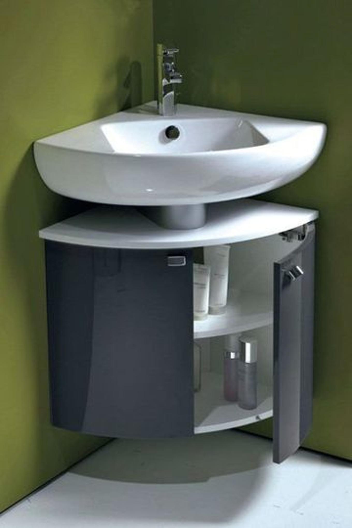 Meuble en coin salle de bain - maison parallele