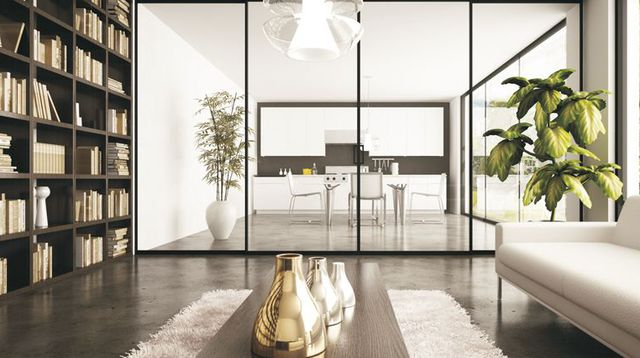 separation cuisine salon en verre maison parallele. Black Bedroom Furniture Sets. Home Design Ideas