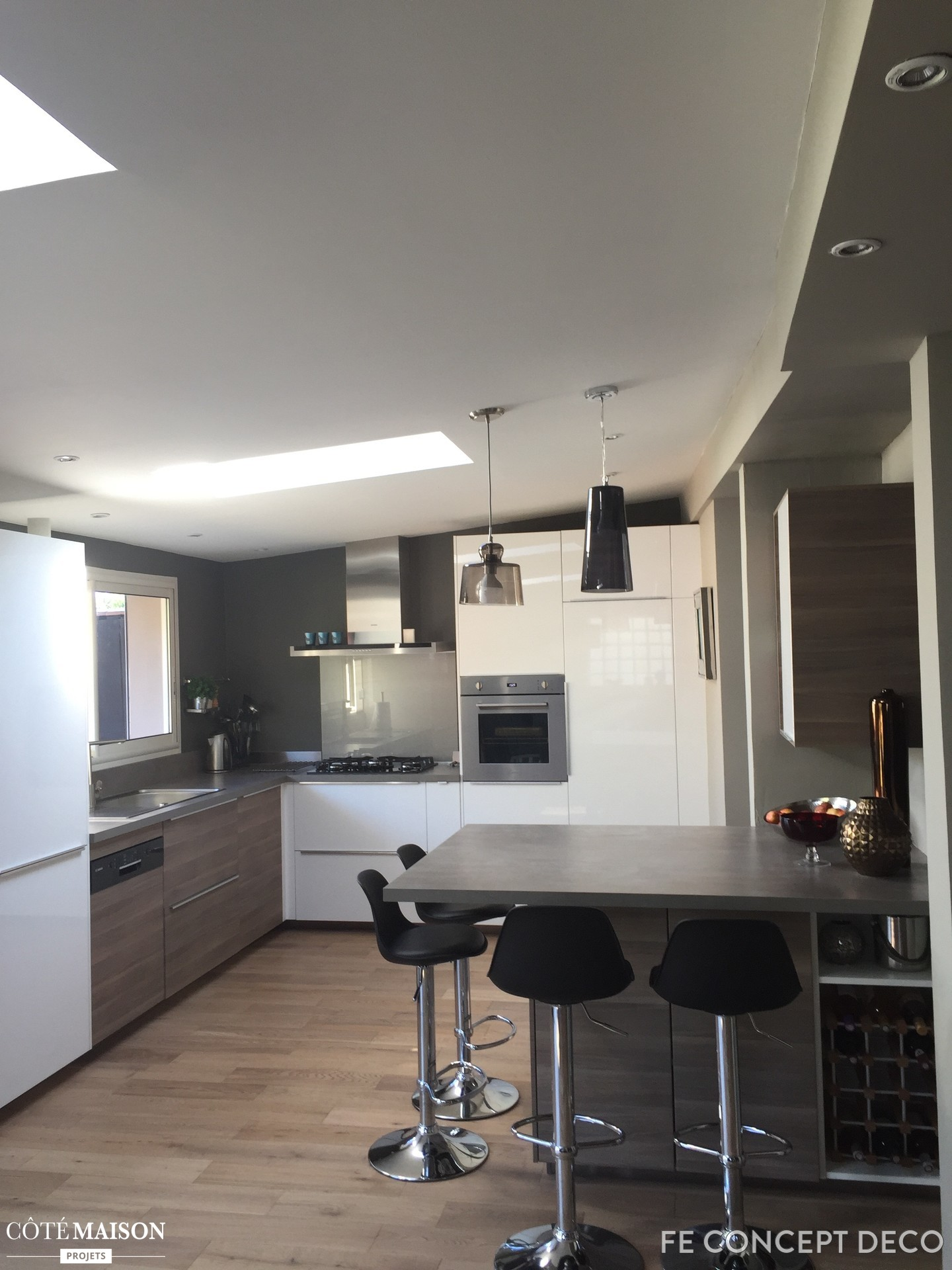 Deco sejour cuisine ouverte maison parallele - Decoration salon cuisine ouverte ...