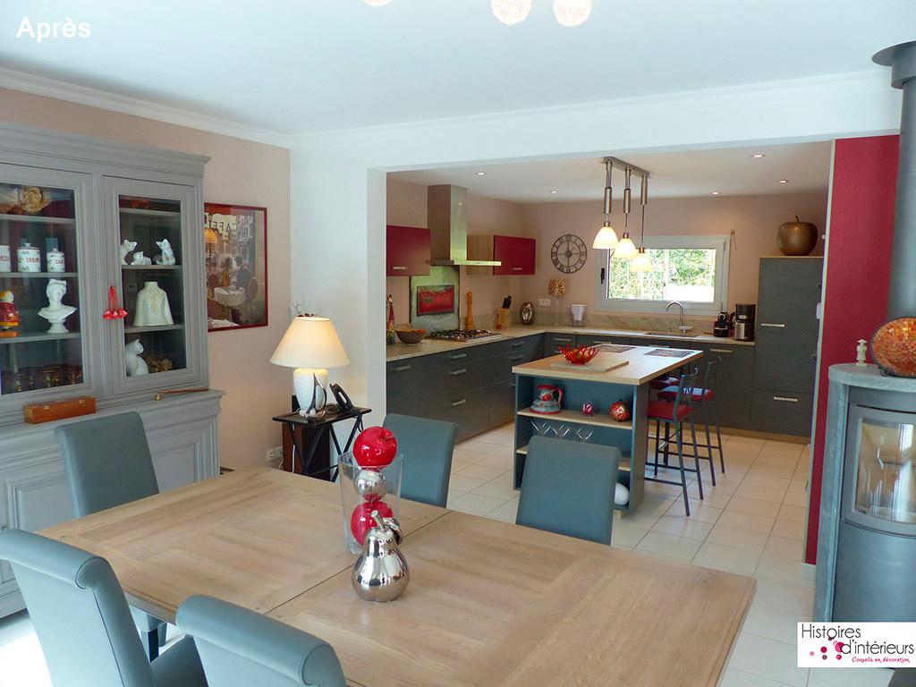 Sejour cuisine 25m2 maison parallele - Amenagement salon salle a manger cuisine ouverte ...
