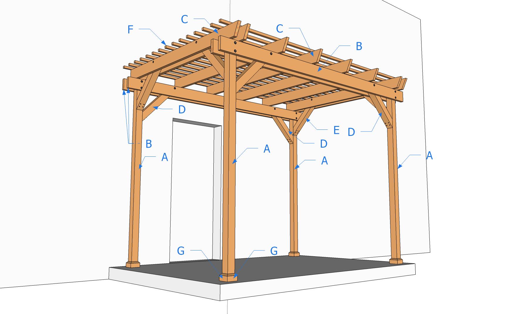 Modele de pergola en bois - maison parallele