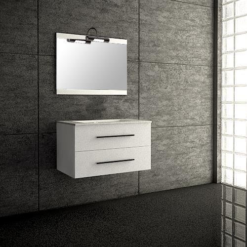 Meuble salle de bain suspendu blanc