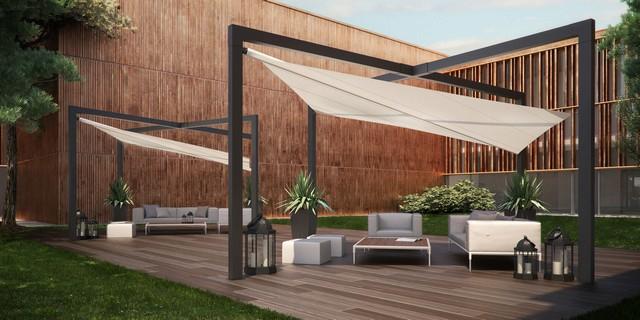 Tonnelle design - maison parallele